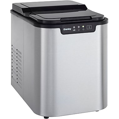 Danby Countertop Ice Maker Stainless Steel : ... DIM2500 2 lbs. Portable 1 Cube Sizes Ice Maker, Black/Stainless Steel