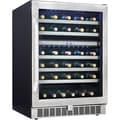 Danby® Silhouette Select® DWC153 5.4 cu.ft. Built-In Dual-Zone Wine Cellar, Black/Stainless Steel