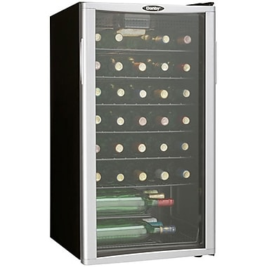 Danby® DWC350 3.2 cu.ft. 35-Bottle Free-Standing Wine Cooler, Black/Platinum