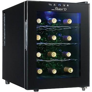 Danby® Maitre'D DWC1233BL-SC 12-Bottle Thermoelectric Countertop Wine Cooler, Black