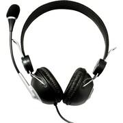 QFX™ H50 Stereo 50mW Headphone With Microphone, Black