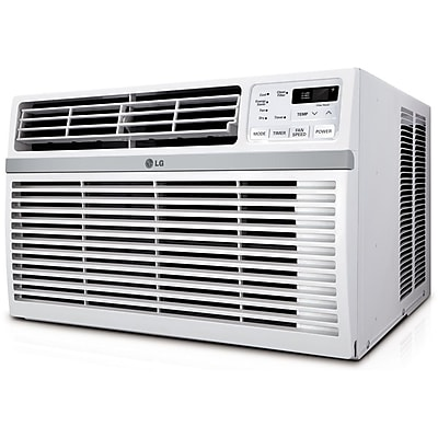 LG LW8014ER Energy Star 8000 BTU Window-Mounted Air Conditioner With Remote Control, White 1127258