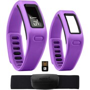 Garmin® vivofit™ Fitness Band Bundle With Heart Rate Monitor/2 Bracelets/USB ANT Stick, Purple