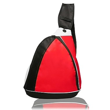 Natico Originals Sports and Travel Side Sling Backpack, Red
