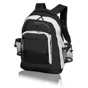 Natico Originals Sports and Travel Multi Pocket Backpack, Black
