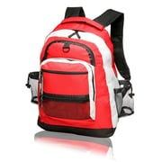 Natico Originals Sports and Travel Multi Pocket Backpack, Red