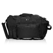 Natico Originals Multi Pocket Deluxe Sports Duffel Bag, Black