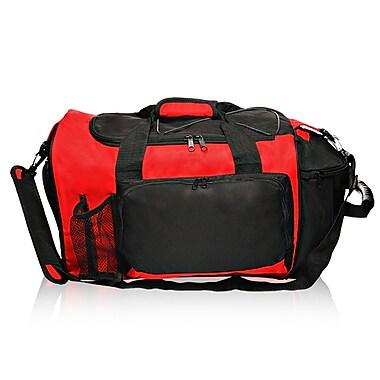 Natico Originals Multi Pocket Deluxe Sports Duffel Bag, Red