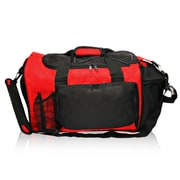 Natico Originals Multi Pocket Deluxe Sports Duffel Bag, Red