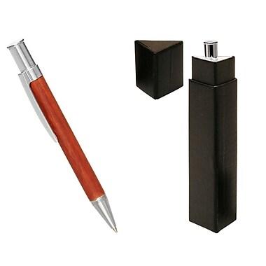 Natico Originals Push Top Ballpoint Pen, Silver/Rosewood