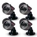 REVO™ RCBS20-2BNDL4 450 TVL Indoor/Outdoor Bullet Surveillance Camera With 33' Night Vision, 4/Pack