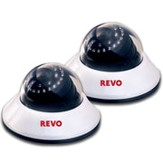 REVO™ RCDS30-2BNDL2 600 TVL Indoor Dome Surveillance Camera With 80' Night Vision, 2/Pack