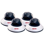 REVO™ RCDS30-2BNDL4 600 TVL Indoor Dome Surveillance Camera With 80' Night Vision, 4/Pack