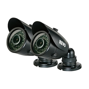 REVO RCBS30-3BNDL2N Wired Surveillance Camera with Day/Night Vision, Black