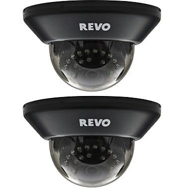 REVO RCDS30-3BNDL2N Wired Surveillance Camera with Day/Night Vision, Black