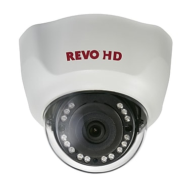 REVO RCHD24-1 Wired Dome Camera with Day/Night Vision, White