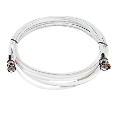 REVO™ RBNCR59 60' RG59 Siamese Cable For Use With BNC Type Cameras, White