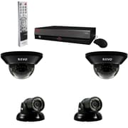 REVO™ 4CH 500GB DVR Surveillance System W/4 700TVL 100' Night Vision Cameras, Gray