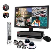 "REVO™ 4CH 1TB DVR Surveillance System W/4 600TVL 80' Night Vision Cameras & 18 1/2"" Monitor"
