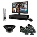 REVO™ 4CH 500GB DVR Surveillance System W/4 700TVL 100' Night Vision Cameras & 18.5in. Monitor, Black