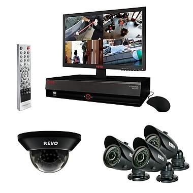REVO™ 4CH 500GB DVR Surveillance System W/4 700TVL 100' Night Vision Cameras & 18.5