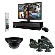 "REVO™ 4CH 500GB DVR Surveillance System W/4 700TVL 100' Night Vision Cameras & 18.5"" Monitor, Black"