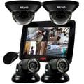 REVO™ 4CH 1TB DVR Surveillance System W/700TVL 2 Dome 2 MN Turret Cameras & 10 1/2in. Built In Monitor