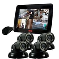REVO™ 4CH 1TB DVR Surveillance System W/4 700TVL 100' Mini Turret Cameras & 10 1/2in. Built In Monitor