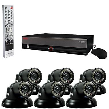 REVO™ 8CH 1TB DVR Surveillance System W/6 700TVL 100' Night Vision Mini Turret Cameras, Black
