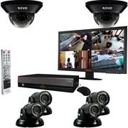 "REVO™ 8CH 2TB DVR Surveillance System W/6 700TVL 100' Night Vision Cameras & 21 1/2"" Monitor, Black"