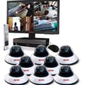 REVO™ 16CH 2TB DVR Surveillance System W/8 600TVL 80' Night Vision Dome Cameras, Black/White