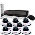 REVO™ 16CH 4TB DVR Surveillance System W/8 600TVL 80' Night Vision Dome Cameras, Black/White