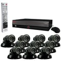 REVO™ 16CH 4TB DVR Surveillance System W/10 700TVL 100' Night Vision Mini Turret Cameras, Black