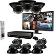 REVO™ 16CH 4TB DVR Surveillance System W/8 700TVL 100' Night Vision Cameras & 21 1/2in. Monitor, Black