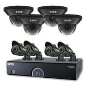 REVO™ 16CH 960H 2TB DVR Surveillance System W/700TVL 4 Dome 4 Bullet Cameras, Black