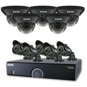 REVO™ 16CH 960H 4TB DVR Surveillance System W/700TVL 5 Dome 5 Bullet Cameras, Black