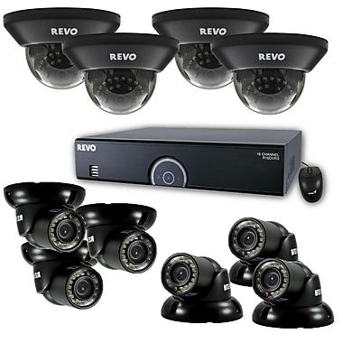REVO™ 16CH 960H 4TB DVR Surveillance System W/700TVL 4 Dome 6 Mini Turret Cameras, Black