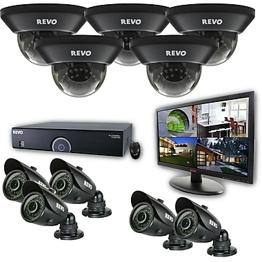 REVO™ 16CH 960H 2TB DVR Surveillance System W/700TVL 5 Dome 5 Bullet Camera & 21 1/2