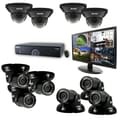 REVO™ 16CH 4TB DVR Surveillance System W/700TVL 4 Dome 6 Mini Turret Camera & 21 1/2in. Monitor, Black