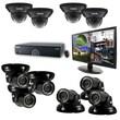 """REVO™ 16CH 2TB DVR Surveillance System W/700TVL 4 Dome 5 Mini Turret Camera & 21 1/2"""" Monitor, Black"""