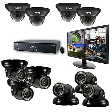 REVO™ 16CH 2TB DVR Surveillance System W/700TVL 4 Dome 5 Mini Turret Camera & 21 1/2