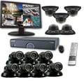 REVO™ 16CH 8TB DVR Surveillance System W/12 700TVL 100' Night Vision Cameras & 23in. Monitor, Black