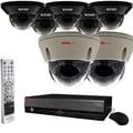 REVO™ Elite 16CH 4TB DVR Surveillance System W/Dome Cameras & Dome Cameras, White/Black