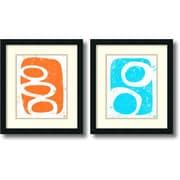 Amanti Art Orange & Turquoise - Set of 2 Framed Art by Suzanna Anna