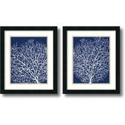 Amanti Art Navy Coral - Set of 2 Framed Art by Sabine Berg