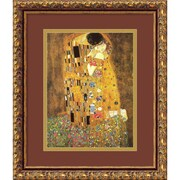 "Amanti Art ""The Kiss (Le Baiser / Il Baccio), 1907"" Framed Art by Gustav Klimt"