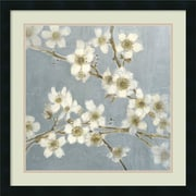 "Amanti Art ""Silver Blossoms I"" Framed Art by Elise Remender"