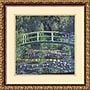 Amanti Art Water Lily Pond, 1899 (blue) Framed