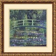 Amanti Art in.Water Lily Pond, 1899 (blue)in. Framed Art by Claude Monet