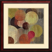 "Amanti Art ""Magenta Bubbles I"" Framed Art by Tom Reeves"